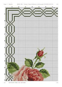 Cross Stitch Borders, Cross Stitching, Cross Stitch Embroidery, Cross Stitch Patterns, Small Flowers, Plastic Canvas, Vintage Patterns, Needlepoint, Diy And Crafts