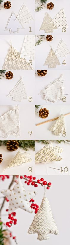 DIY fabric tree - Christmas decoration - www. - DIY fabric tree – Christmas decoration – www.fr, – DIY f - Christmas Sewing, Christmas Mood, Diy Christmas Tree, Christmas Decorations, Christmas Fabric, Diy Décoration, Diy Crafts, Easy Diy, Fabric Tree