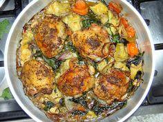 Pollo con espinaca y alcachofa - Powered by @ultimaterecipe