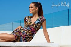 Rainbow Dress | Joseph Ribkoff 2016 Collection at Aspirations. #josephribkoff
