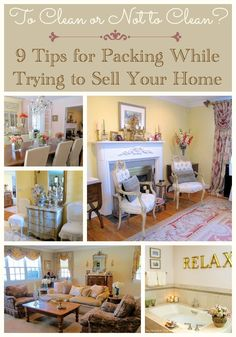 Selling your home and packing to move | Tips for packing while keeping your home spotless for real estate showings  | #Designthusiasm