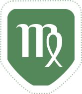 Virgo sign, this is the tattoo on back of neck, it fits me perfect!