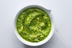 Recipe For Garlic Scapes, Scape Pesto Recipe, Garlic Scape Pesto, Garlic Pasta, Basil Pesto Vegan, Basil Pesto Recipes, Pesto Dip, Vegetable Bin, Herbs For Health