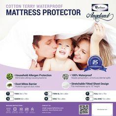 Furinno Angeland Terry Cloth Hypoallergenic Waterproof Mattress Protector & Reviews   Wayfair