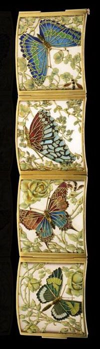 CARRERAS Barcelona. Art Nouveau c1905. Beautiful yellow gold, frosted glass and enamel panel bracelet Hancocks & Co (Jewellers) Ltd | JV