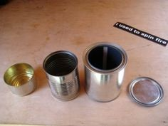 Woodgas Can Stove : 14 Steps (with Pictures) - Instructables Fire Pit Bbq, Small Tins, Local Hardware Store, Electrical Tape, The Smoke, Paint Cans, Can Opener, Wall Design