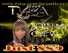 Hello babes have a gorgeous day and join My Tyra Beauty crew become a beautytainer if you want to make that money well with Tyra that's all you'll do and for just $89 dollars get a beautiful starter kit I'm in love with and so will you plus a beautiful free website cmon this is the dream it's with Tyra Beauty join Today www.tyra.com/beauttogo #tyrabanks #tyrabeauty #joinmyteam #joinmycrew #vitiheal03 #workathome #freewebsite #starterkit ❤️✨✨✨💻📩☕️⚡️💵