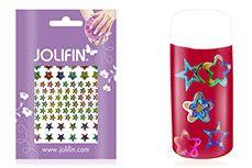 Jolifin Fancy Nail Sticker golden rainbow 4