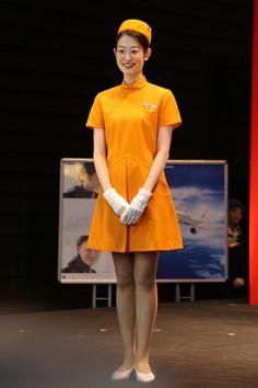 JAS初代制服 JALとJEX客室乗務員歴代制服ファッションショー 客室乗務員 スチワーデス 歴代ユニフォーム 制服 空の日フェスティバル JAL fashion show JAS (1)