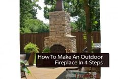 How To Make An Outdoor Fireplace In 4 Steps - A fireplace brings a welcomed warmth to any environment. Outdoor fireplaces seem to be growing in popularity. They are unique and definitely bring a wonderful atmosphere to your grounds. In this post, you will learn the simple, step by step process of building your own outdoor fireplace. It's easier to put together than one would think, and the results will bring you years of enjoyment.