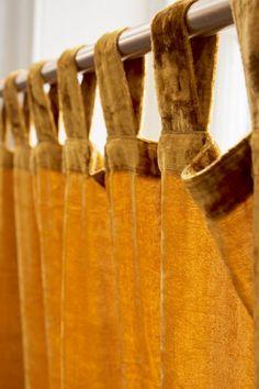 Velvet Mustard Curtains for baby room Mustard Yellow Curtains, Mustard Yellow Bedrooms, Orange Curtains, Velvet Curtains Bedroom, Dining Room Curtains, Window Curtains, Baby Room Curtains, Curtain Panels, Window Panels