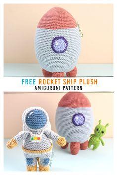 Crochet Car, Cute Crochet, Crochet Crafts, Crochet Dolls, Crochet Projects, Crochet Food, Crochet Amigurumi Free Patterns, Crochet Animal Patterns, Stuffed Animals