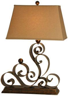 Raschella Iron Scrolling Table Lamp - LightingLuxuryStyle.com