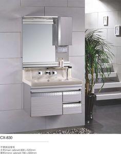 Stainless Steel Bathroom Vanity Cabinet   Modern Stainless Steel Bathroom  Cabinet   Pinterest   Bathroom Vanity Cabinets, Bathroom Cabinets And  Bathroom ...