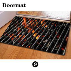 Anti Slip Living Room Carpet Children Play Funny Door Mat Large Rubber Doormat 40 X 60 Cm Fire Indoor Outdoor Rug Creative Gift