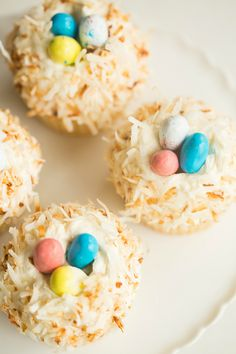 Coconut Cupcakes with Toasted Coconut Frosting | browneyedbaker.com #recipe #cupcakes #Easter
