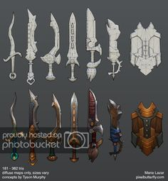 pixelbs good ol fashioned home-cooked hand-painted textures - Polycount Forum Zbrush, Anime Weapons, Fantasy Weapons, Prop Design, Game Design, Mode 3d, Hand Painted Textures, Sword Design, 3d Modelle