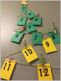DIY advent calendar 2/more Christmas Decorating Ideas