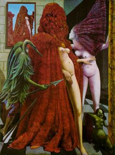 Max Ernst (German [Dada, Surrealism] The Robing of the Bride, Peggy Guggenheim Foundation, Venice, Italy. Peggy Guggenheim, Max Ernst Paintings, Städel Museum, Georg Christoph Lichtenberg, Hans Thoma, Dada Movement, Illustration Art, Illustrations, The Uncanny