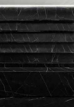 Hedi Slimane | Black marble shelving in the Saint Laurent Paris store | Shanghai