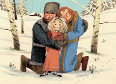 Forgot to upload this on here! An illustration from a little while ago based on an adaption of a Russian Folktale
