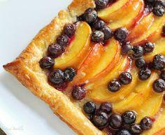 Blueberry Peach Tart - FoodBabbles.com