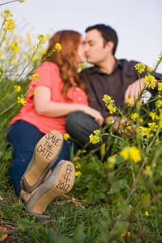 My save the date shoes - Jen Rodriguez Photography