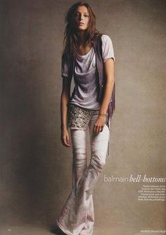 Model : Daria Werbowy  Editorial : Spring Forward  Photographer : Patrick Demarchelier  Fashion Editor : Kate Phelan