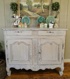 Attrayant An Antique French Buffet Topped With Marble Serves As A Bar. Description  From Pinterest.