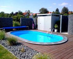 Hochwertige Stahlwandbecken für die private Wellnessoase: moderner Pool von POOLSANA GmbH & Co. KG