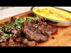 Entraña al Disco - Receta de Locos X el Asado - YouTube Barbacoa, Outdoor Cooking, Enchiladas, Summer Recipes, Food Dishes, Catering, Steak, Grilling, Easy Meals