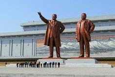 Mansu Hill Grand Monument  in Pyongyang North Korea