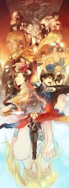Fullmetal Alchemist: Brotherhood by http://www.pixiv.net/member.php?id=74184 - I want a print of this in my room... <3