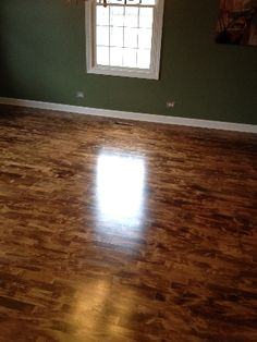 Stained maple floors
