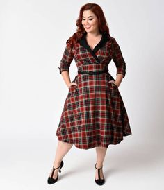 I love a swing dress, and plaid is fun. Plus, POCKETS!