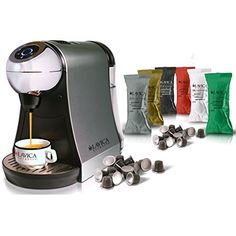Lavica Espresso Single-Serve Espresso Capsule pod Machine System Bundled with Variety of 100 Espresso Capsules (pods) Compatible with Nespresso Capsules (Silver) - http://thecoffeepod.biz/lavica-espresso-single-serve-espresso-capsule-pod-machine-system-bundled-with-variety-of-100-espresso-capsules-pods-compatible-with-nespresso-capsules-silver/