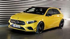 2019 Mercedes-AMG A 35 hot hatch revealed My Dream Car, Dream Cars, Mercedes A45 Amg, Porsche, New Ferrari, Car Goals, Bmw, Super Cars, Pirates