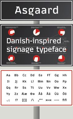 Asgaard is based on extensive research into a unique Danish design phenomenon within typeface design and lettering of the 20. century. The intention was to create a distinctive contemporary and functional typeface while still incorporating traditional influences and features (such as the alternate character for ø with the horizontal bar, which is based on some old enamel signs).