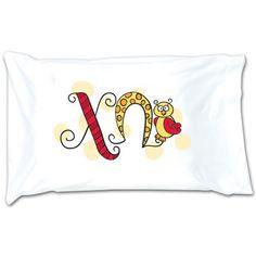 Chi Omega Sorority Dot Pillowcase