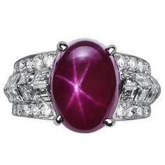 Cartier 10.86 Carat Burma No Heat Star Ruby Diamond Platinum Ring
