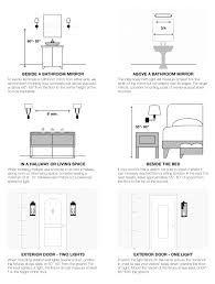 Image Result For Typical Mounting Height For Bedside Reading Light Bathroom Sconces Interior Design Guide Bathroom Light Fixtures