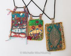 Textile jewellery with instructions from Michelle Mischkulnig