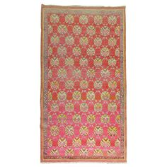 Antique Khotan Rug | From a unique collection of antique and modern central asian rugs at https://www.1stdibs.com/furniture/rugs-carpets/central-asian-rugs/