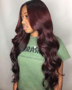Burgundy Hair Black Girl, Burgundy Wine, Brown Hair, Black Hair, Burgundy Hair Colors, Burgundy Curly Hair, Irish Red Hair, Wig Hairstyles, Pretty Hairstyles