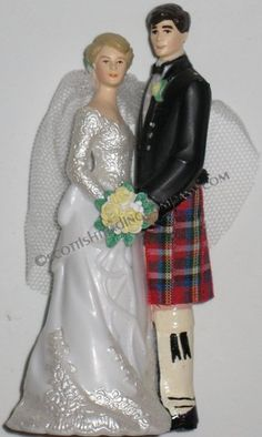 Scottish wedding cake topper - maybe there is a lederhosen and Dirndl version?