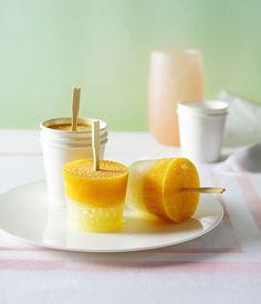 Australian Gourmet Traveller recipe for lemonade and passionfruit icy poles