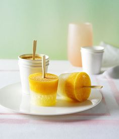 Australian Gourmet Traveller recipe for lemonade and passionfruit icy poles