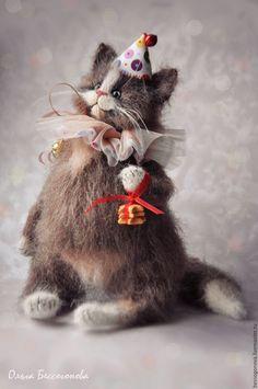Купить Кто котика на праздник пригласит? - кот, котик, игрушка кот, игрушка котик, кошка