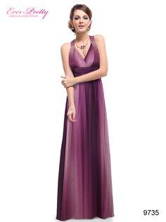 Sexy V-neck Purple Cross Back Rhinestones Printed Shade Evening Dress