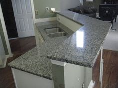 New Caledonia granite is quarried from a bedrock quarry in Brazil.   It is a fairly consistent granite in it's pattern and coloring, but I w...
